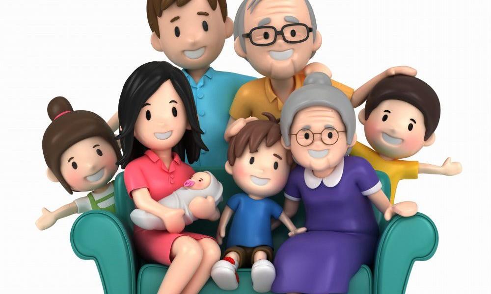 3D-Happy-Family-Cartoon-Family-Photo
