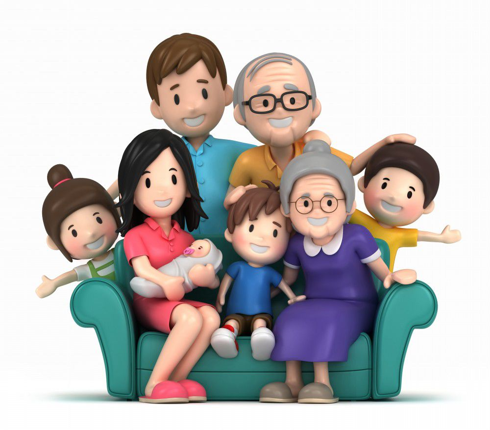 3D-Happy-Family-Cartoon-Family-Photo