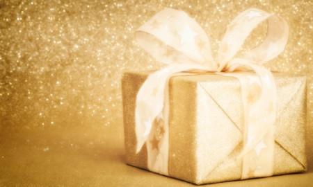 Golden Christmas Gift Box