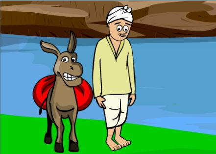 The Donkey and the Washerman
