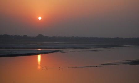 Sunset_Ganga_river