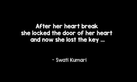 after her heart break