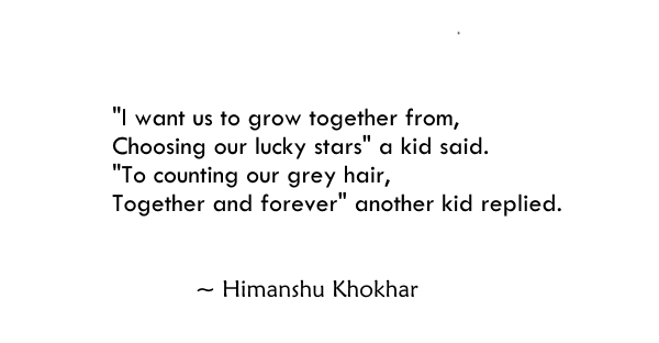 I want us to grow together from