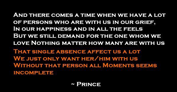 Prince one line story that single person